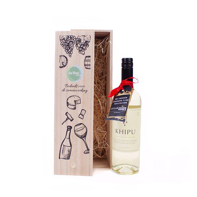 Bedrukte wijnkist Khipu Sauvignon Blanc