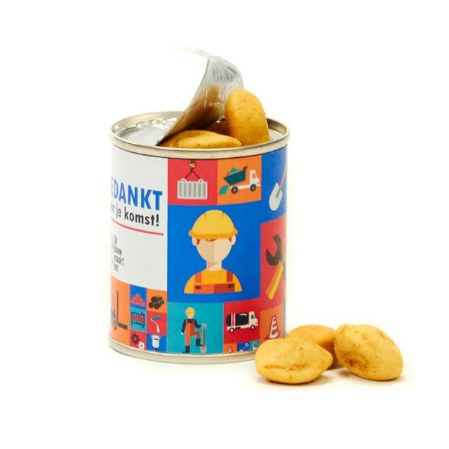 Go Nuts noten blikje voor de bouw