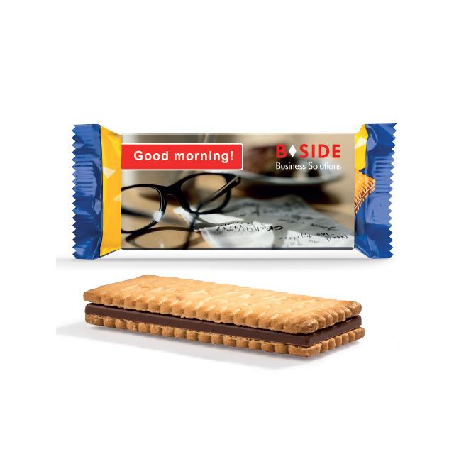 Choco biscuit in eigen sleeve