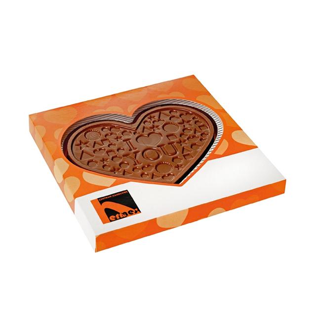Reliëf chocolade met eigen logo