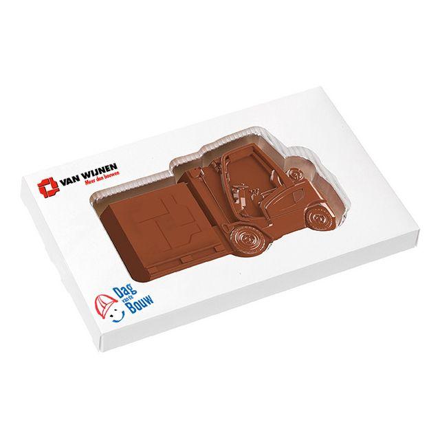 Reliëf chocolade met logo - transport