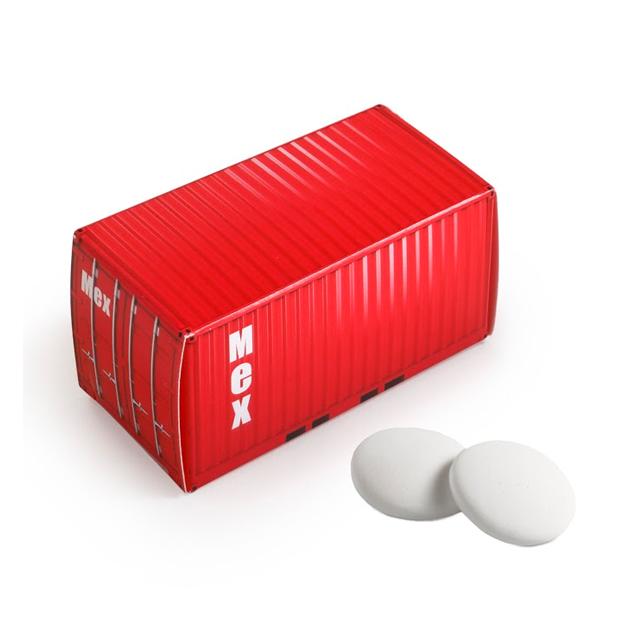 Container doosje met pepermunt