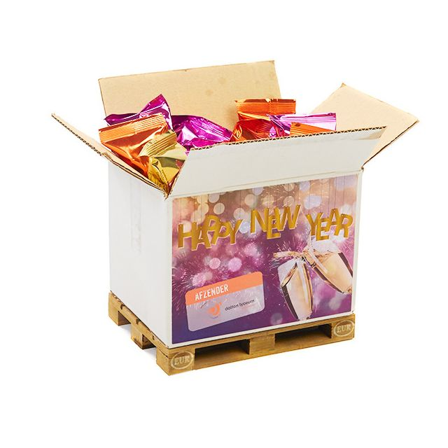 Mini europallet met Fortune Cookies