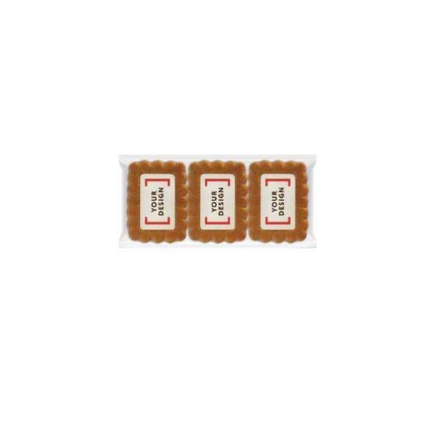 3-pack gingerbread koekjes met logo
