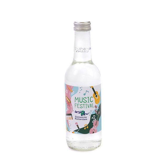 Glazen fles mineraalwater 33 cl