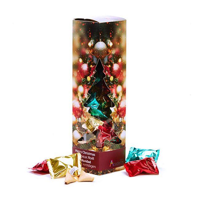 Fortune Cookies in kerst geschenkdoos