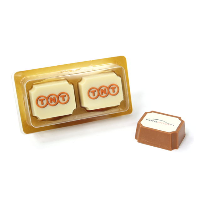 2 logo bonbons in doosje
