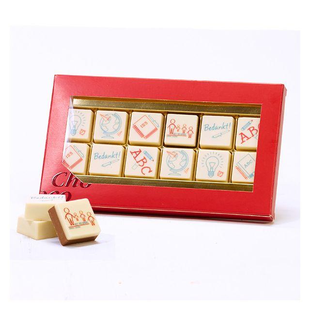12 logo bonbons in geschenkdoos - Leerkracht