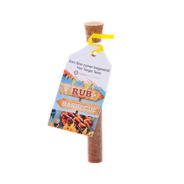 Barbecue kruiden in glazen tube