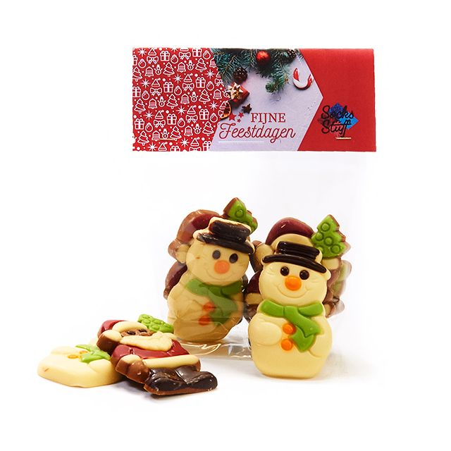 Zakje kerstchocolade - klein