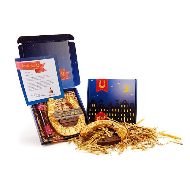 Specu(k)laasthee in geschenkdoosje met hoefijzer