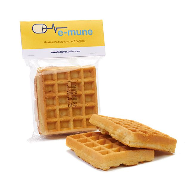 2 wafels in flowpack