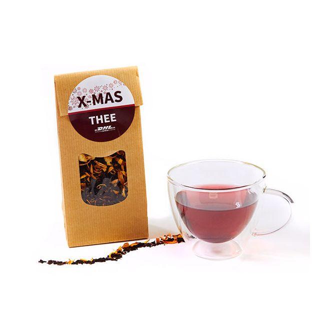 Papieren zakje kerst thee