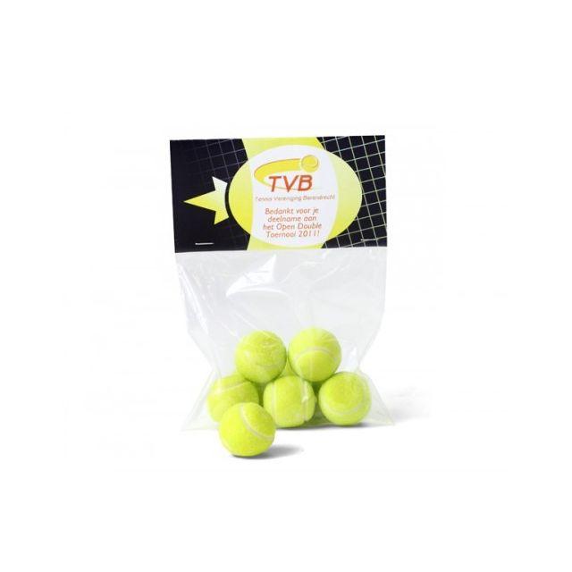 Zakje tennisballen kauwgom