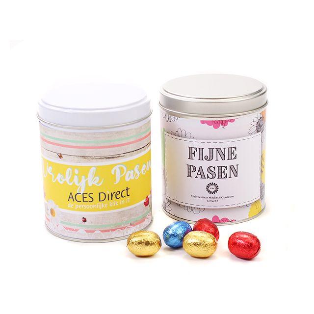 Blikje met paaseitjes - 400 gram