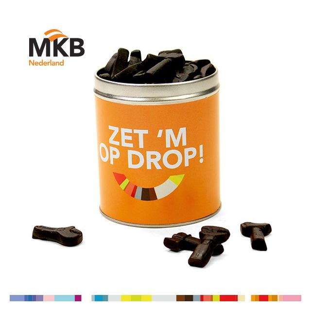 Drop in bedrukt blik - medium