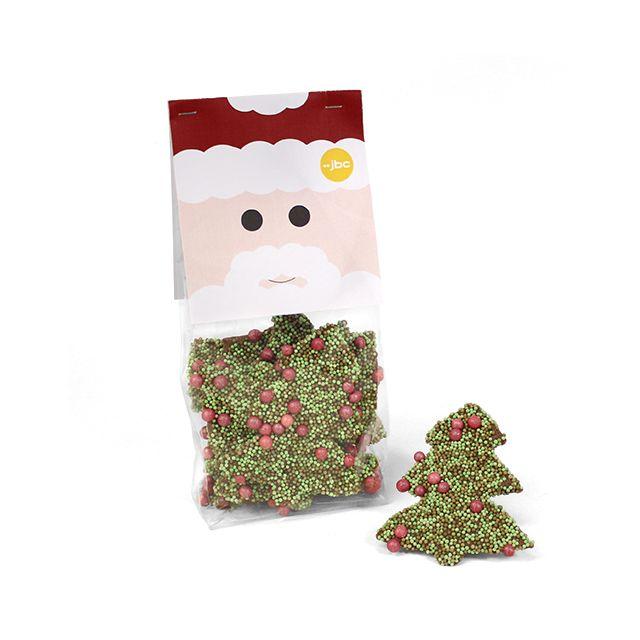Chocolade kerstboom met decoratie