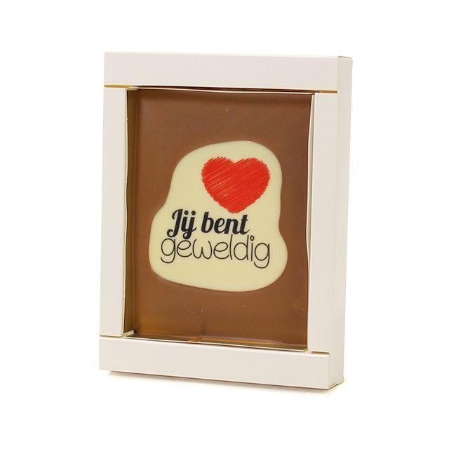 Chocoladetablet met bedrukking