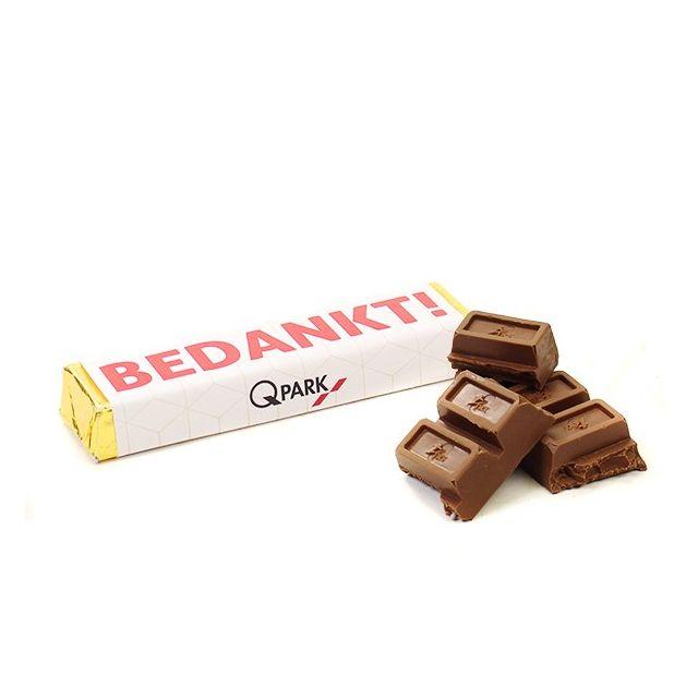 Chocoladereep met praline vulling