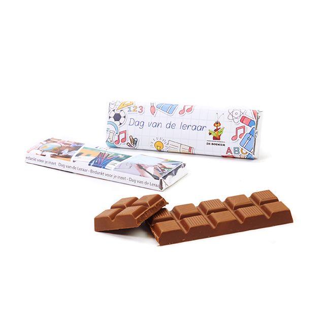 Chocoladereep voor de leraar