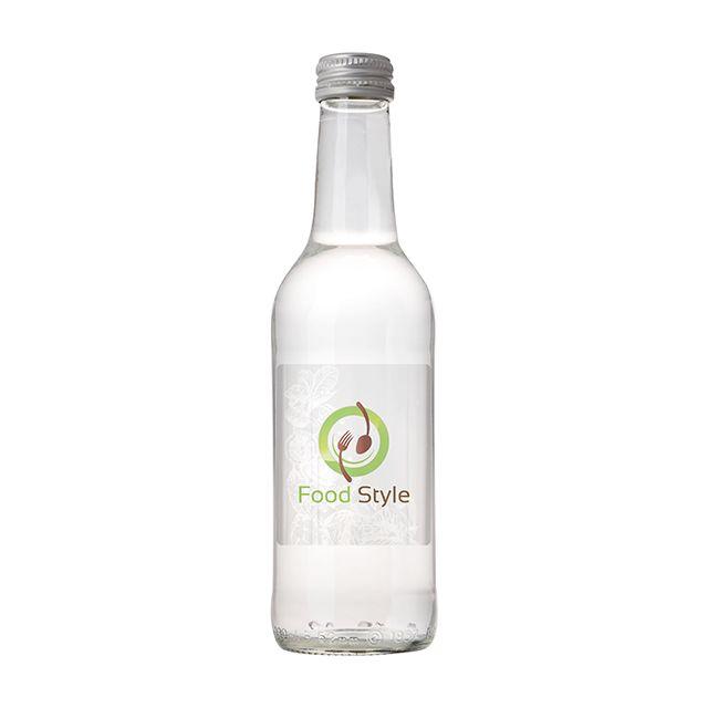 Glazen fles bronwater 33 cl