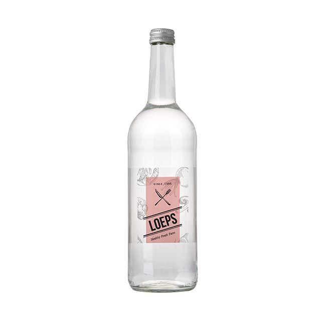 Glazen fles bronwater 75 cl
