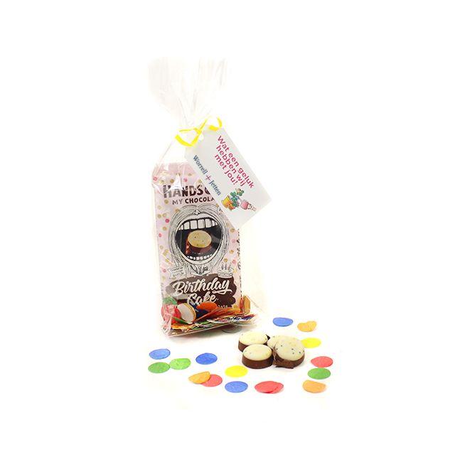 Chocoladereep met confetti