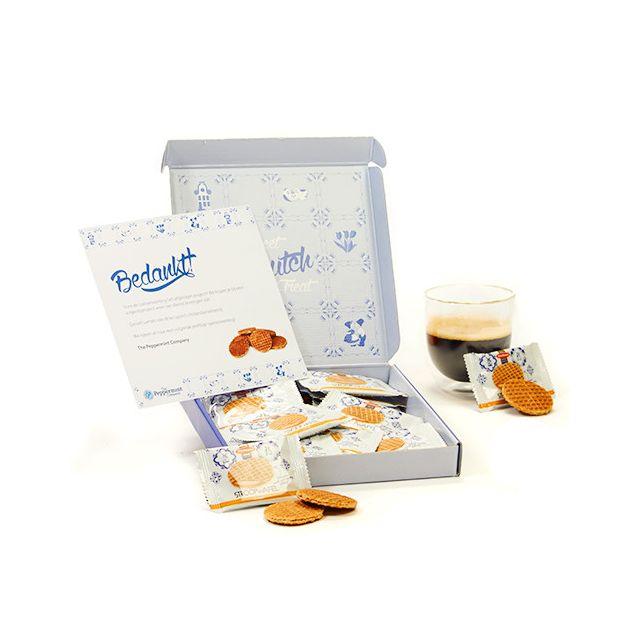 Hollands postpakket met mini stroopwafels
