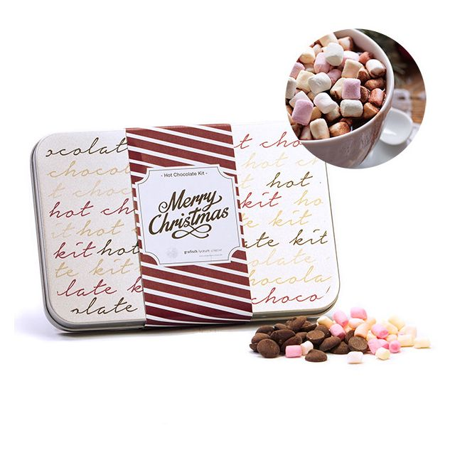 Hot Chocolate Kit in rechthoekig blik