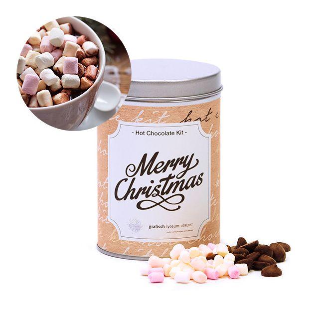 Hot Chocolate Kit in rond blik