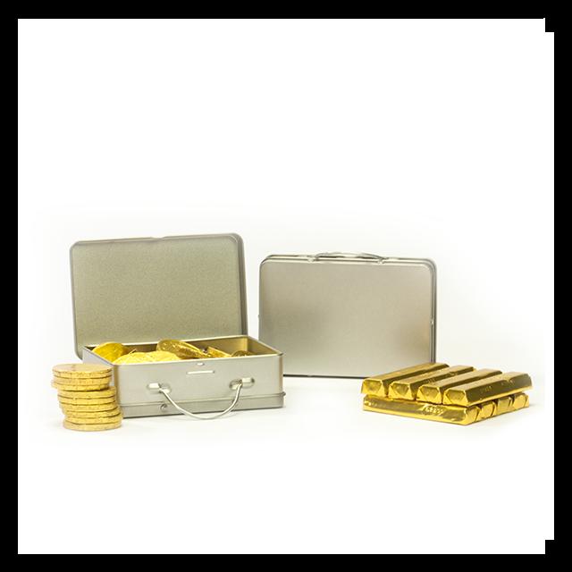 Koffertje met goud