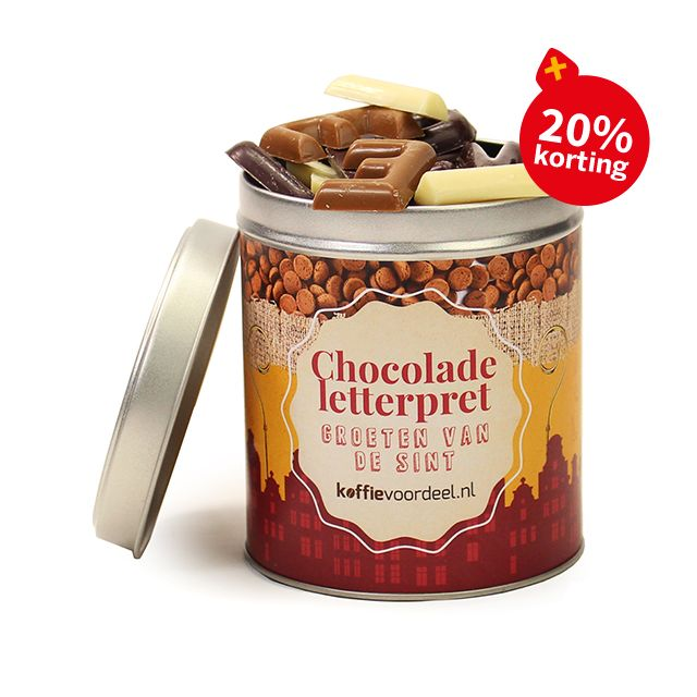 Chocolade letterpret - groot