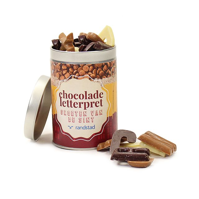 Chocolade letterpret - klein