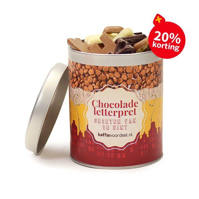 Chocolade letterpret - medium