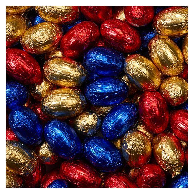 Massieve paaseitjes mix - grootverpakking chocolade eitjes