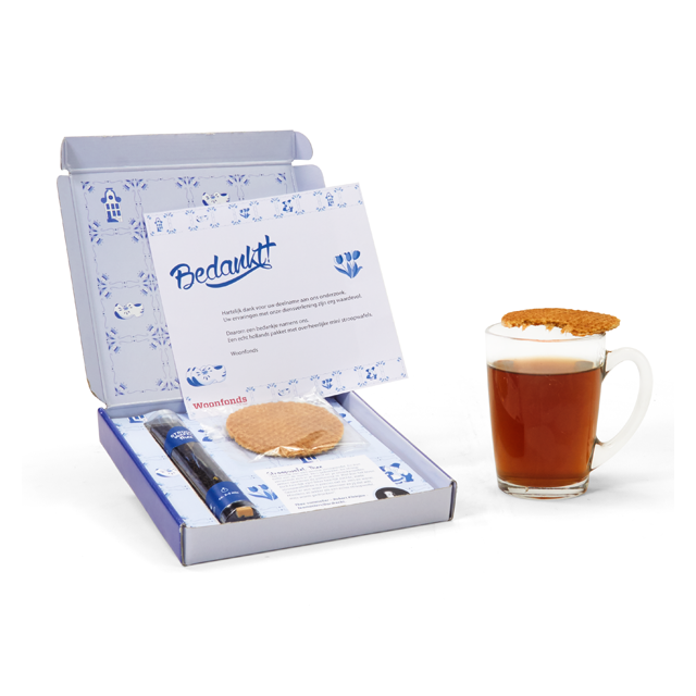 Stroopwafel thee in geschenk- of verzenddoosje