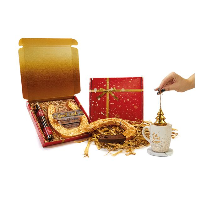 Santa's choice thee in geschenkdoosje met hoefijzer