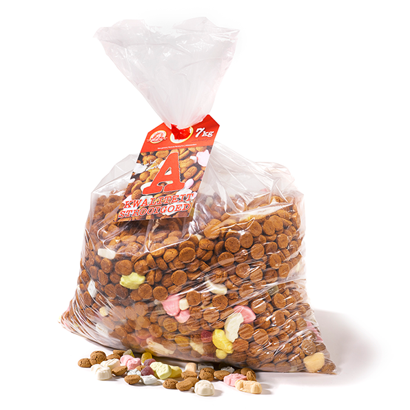 7 kg A-kwaliteit strooigoed - verpakt in transparante zak