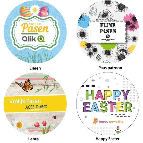 Paasontwerpen voor stickers