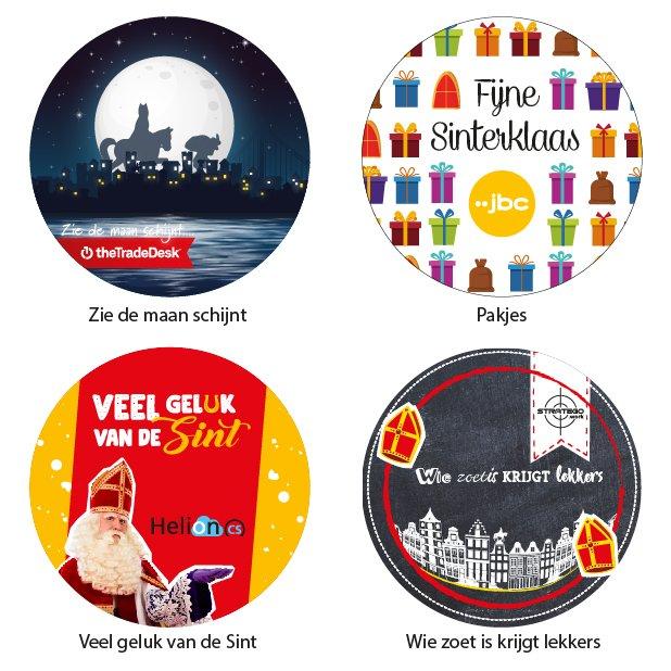 Standaard ontwerpen Sinterklaas - stickers