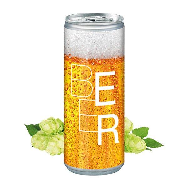Blikje bier in eigen huisstijl