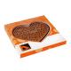 Reliëf chocolade met eigen logo - hart