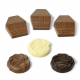 Chocolade huisjes en roosjes
