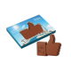 Reliëf chocolade met eigen logo - duim