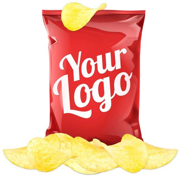 Zakje chips in eigen verpakking 2