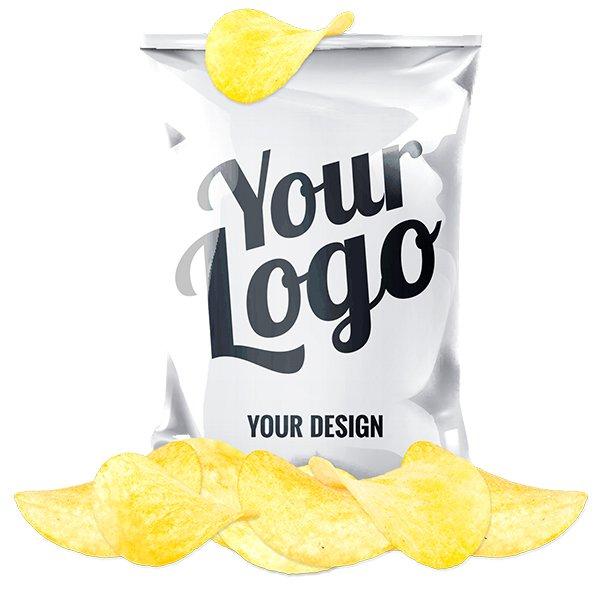 Zakje chips in eigen verpakking 3