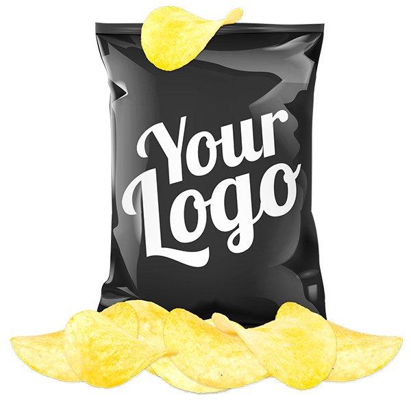 Zakje chips in eigen verpakking 4