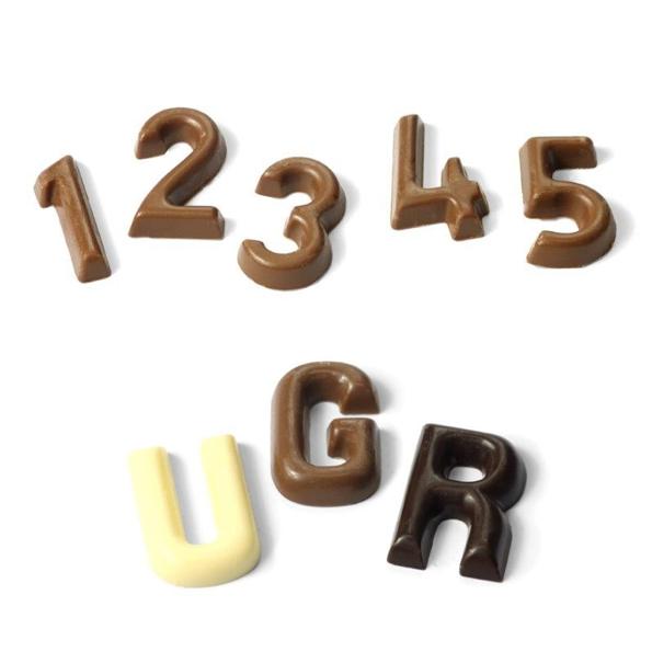 Chocolade cijfers en letters