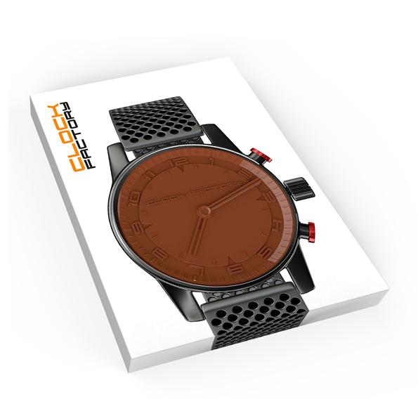 Reliëf chocolade met eigen logo - klok