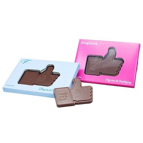 Chocolade like duim